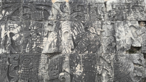 Wall decorations in the Ball Court