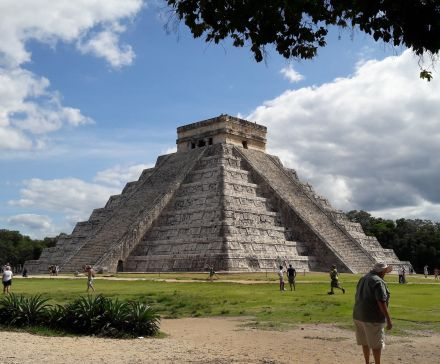The Pyramid of Kukulcan EL Castillo - One of Chichen Itza's main buildings