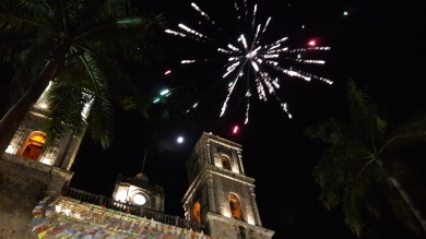 Fireworks at San Gervasio Cathedral