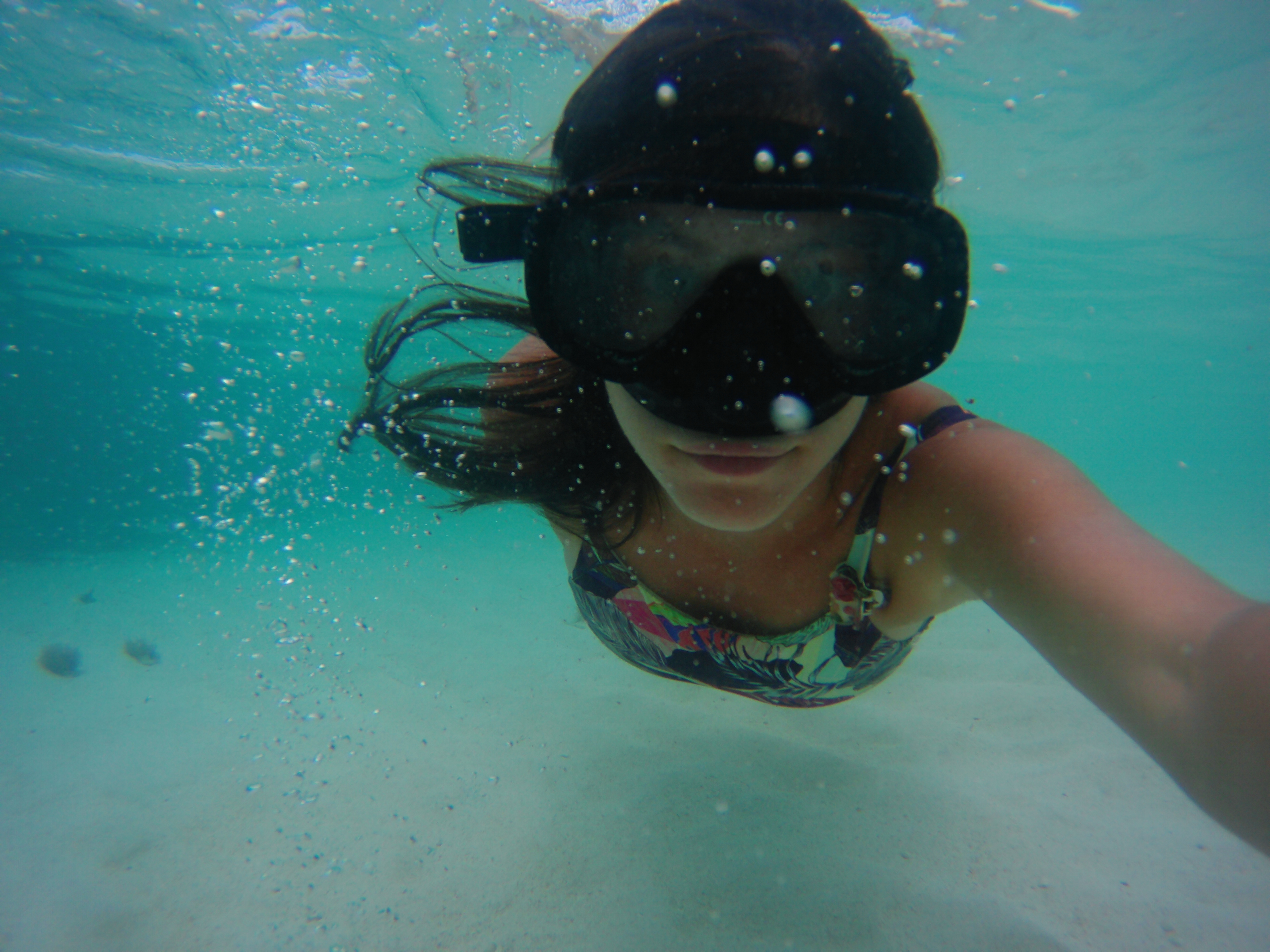 A person snorkelling