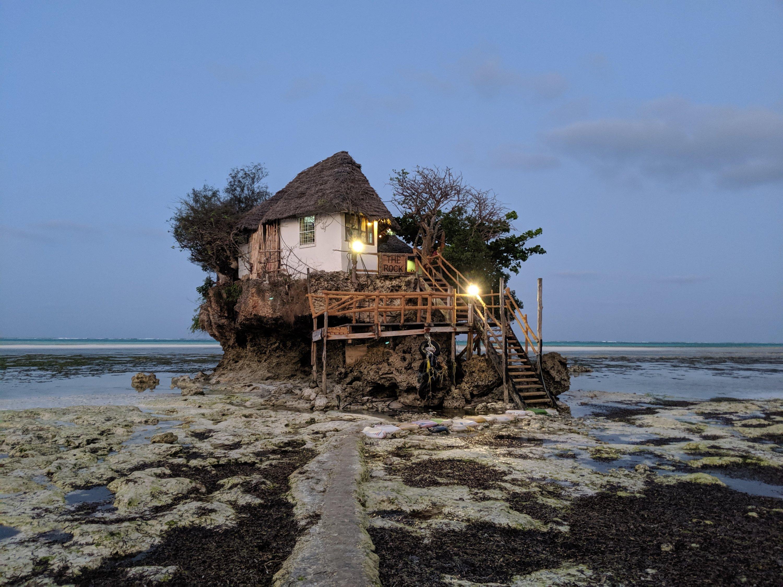 The Rock Restaurant in Zanzibar, Tanzania
