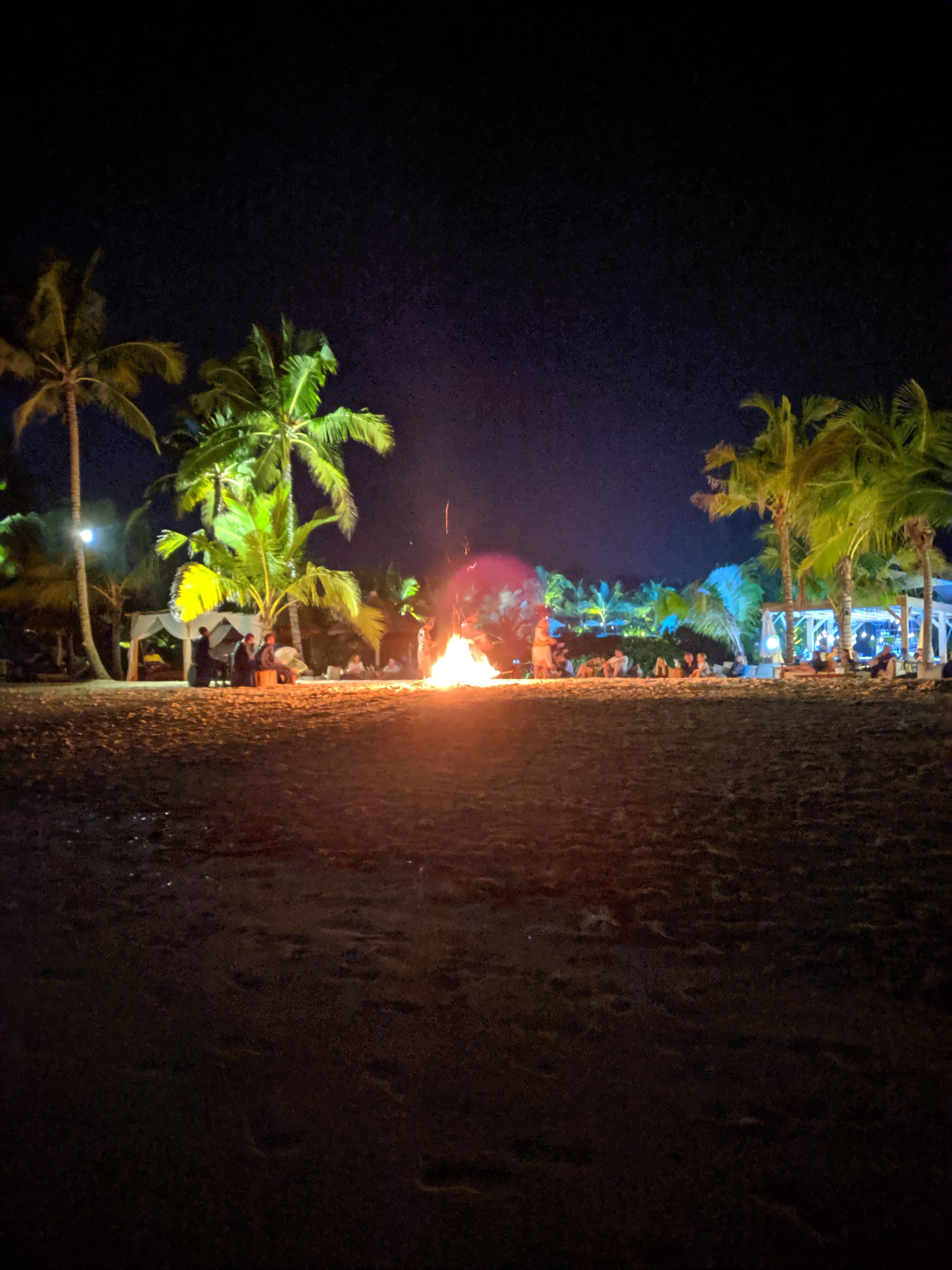 Kendwa beach at night time