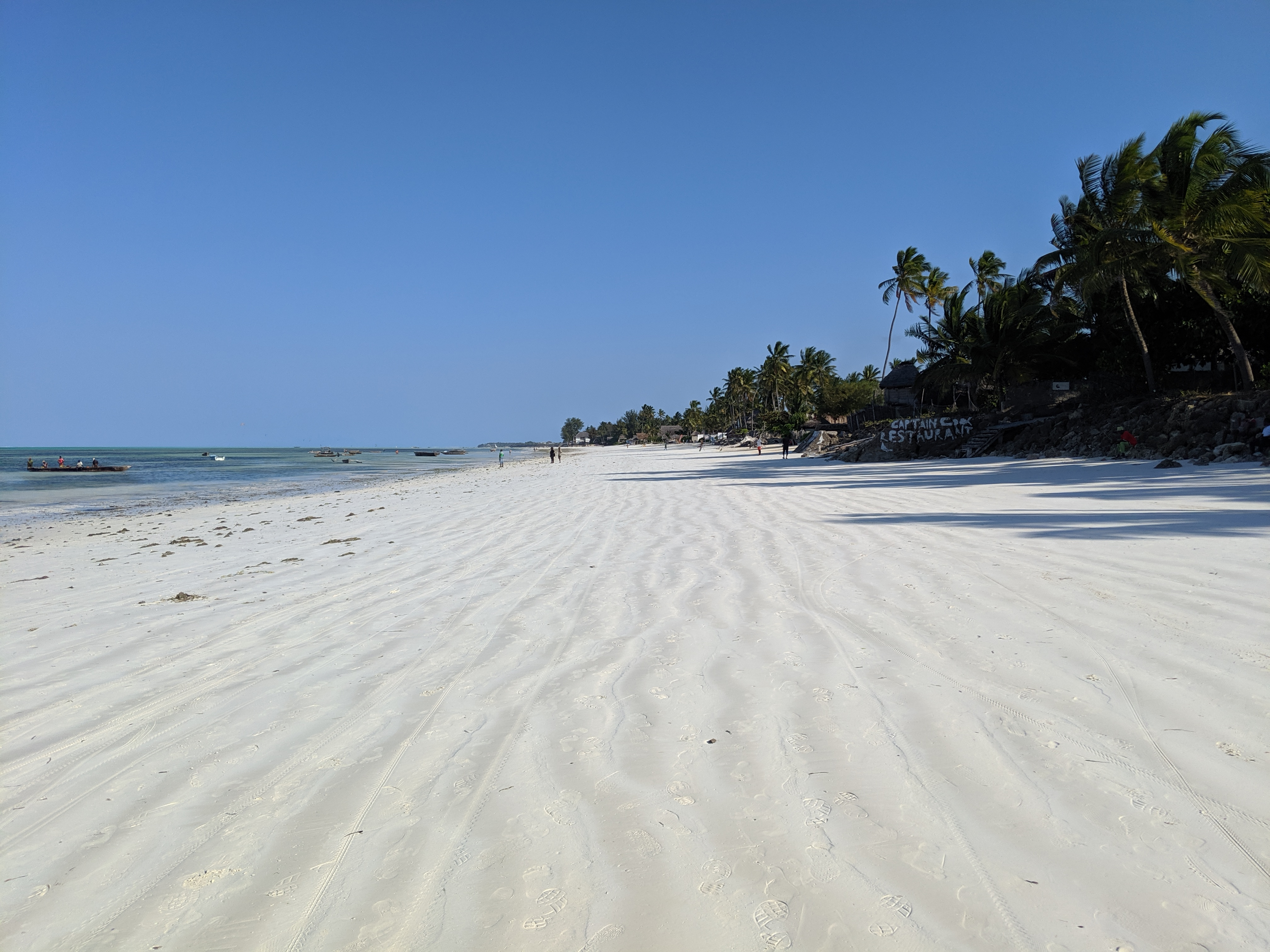 White sand in Jambiani Beach, Zanzibar, Tanzania