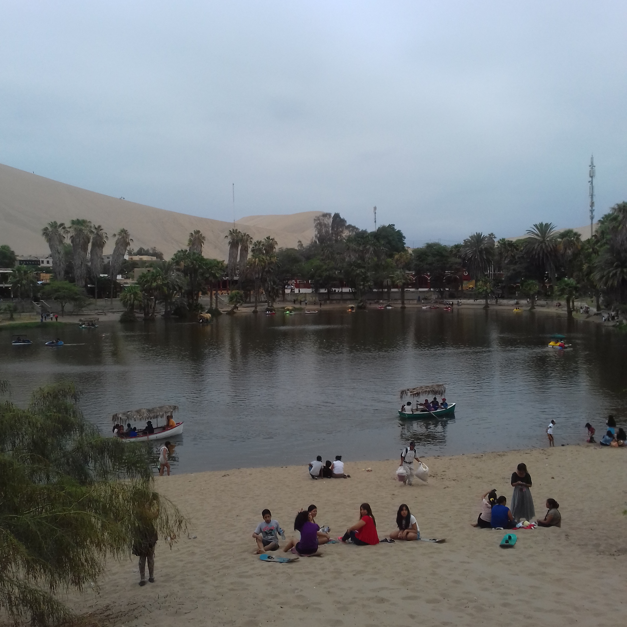 Huacachina oasis in the desert
