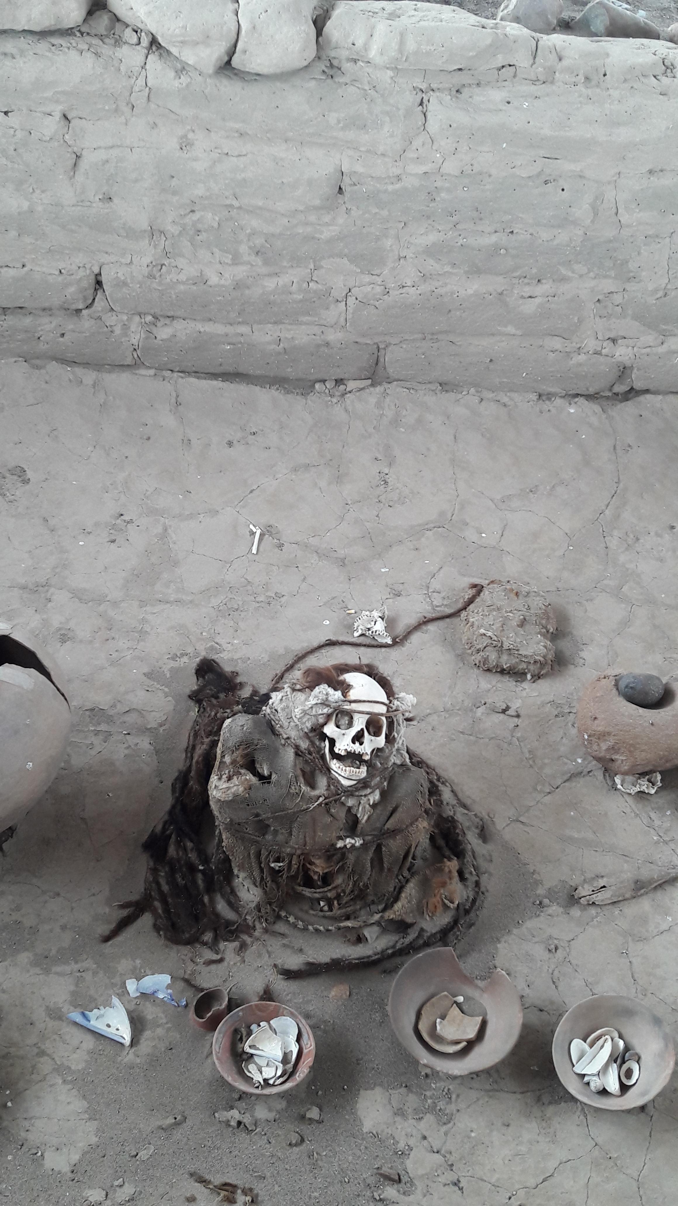 a mummified body