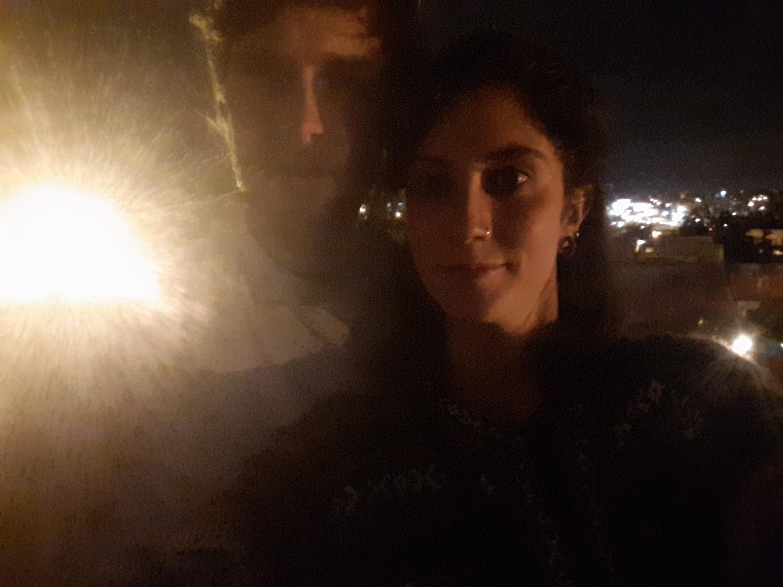 two people in a selfie