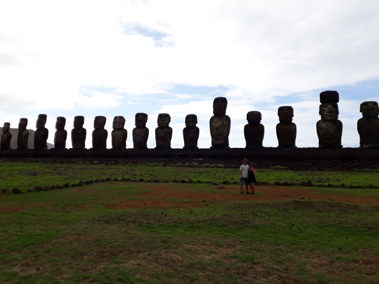 Anu Tongariki on Easter Island, Chile