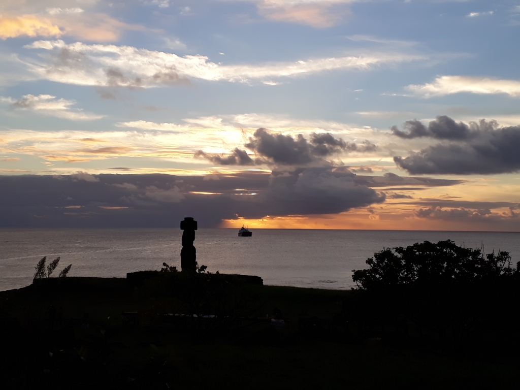 Sunset at Ahu Tahai, Easter Island, Chile